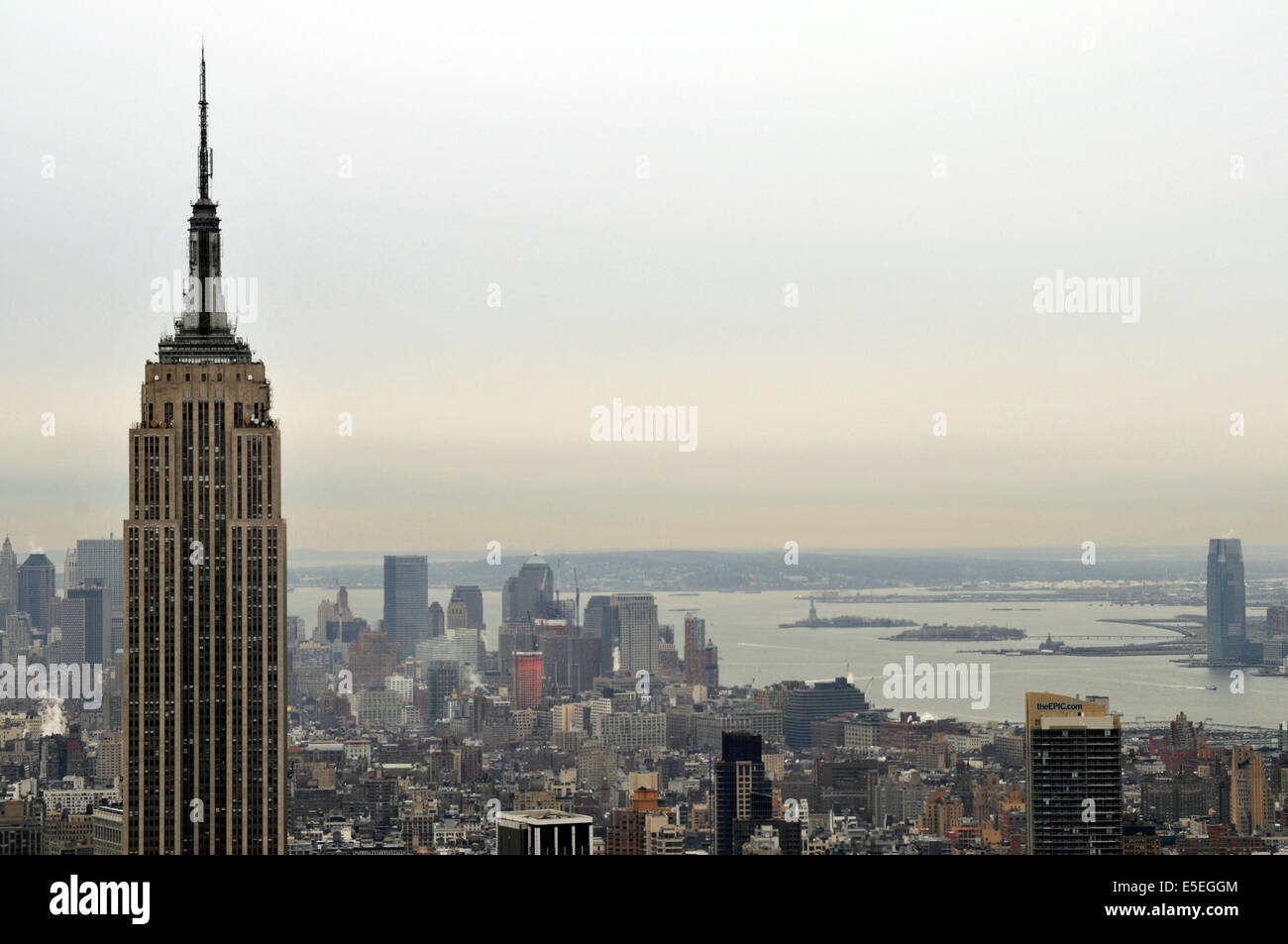 View from Rockefeller Center, New York, USA, Northamerica - Stock Image