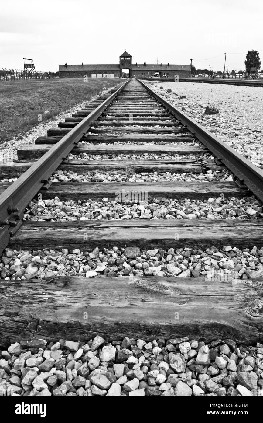 Auschwitz-birkenau concentration and extermination camp - Stock Image