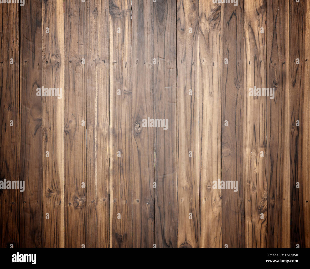 Old Wood plank brown texture background intensity. - Stock Image