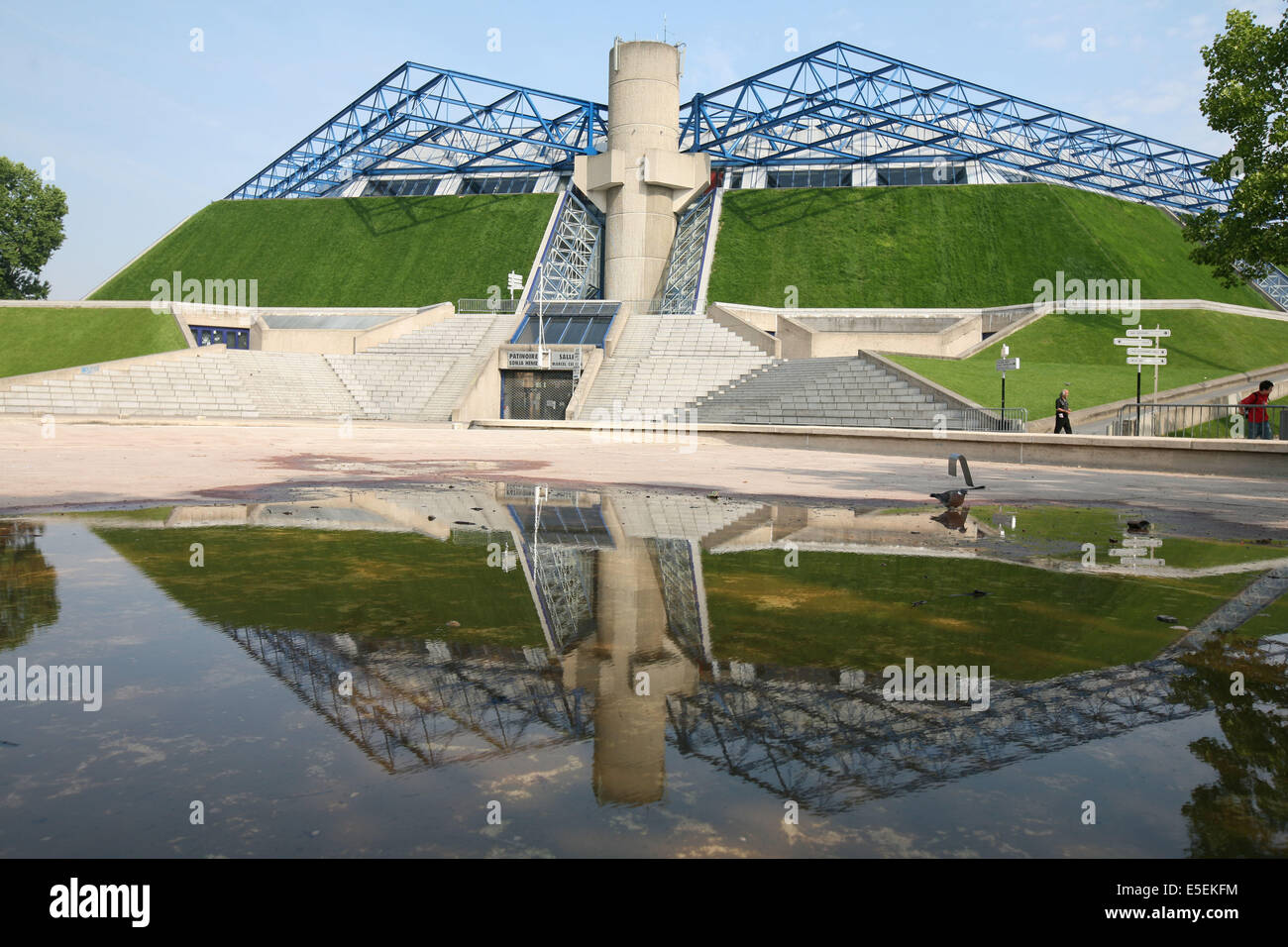 France, paris 12e, parc de Bercy palais omnisports, popb, - Stock Image