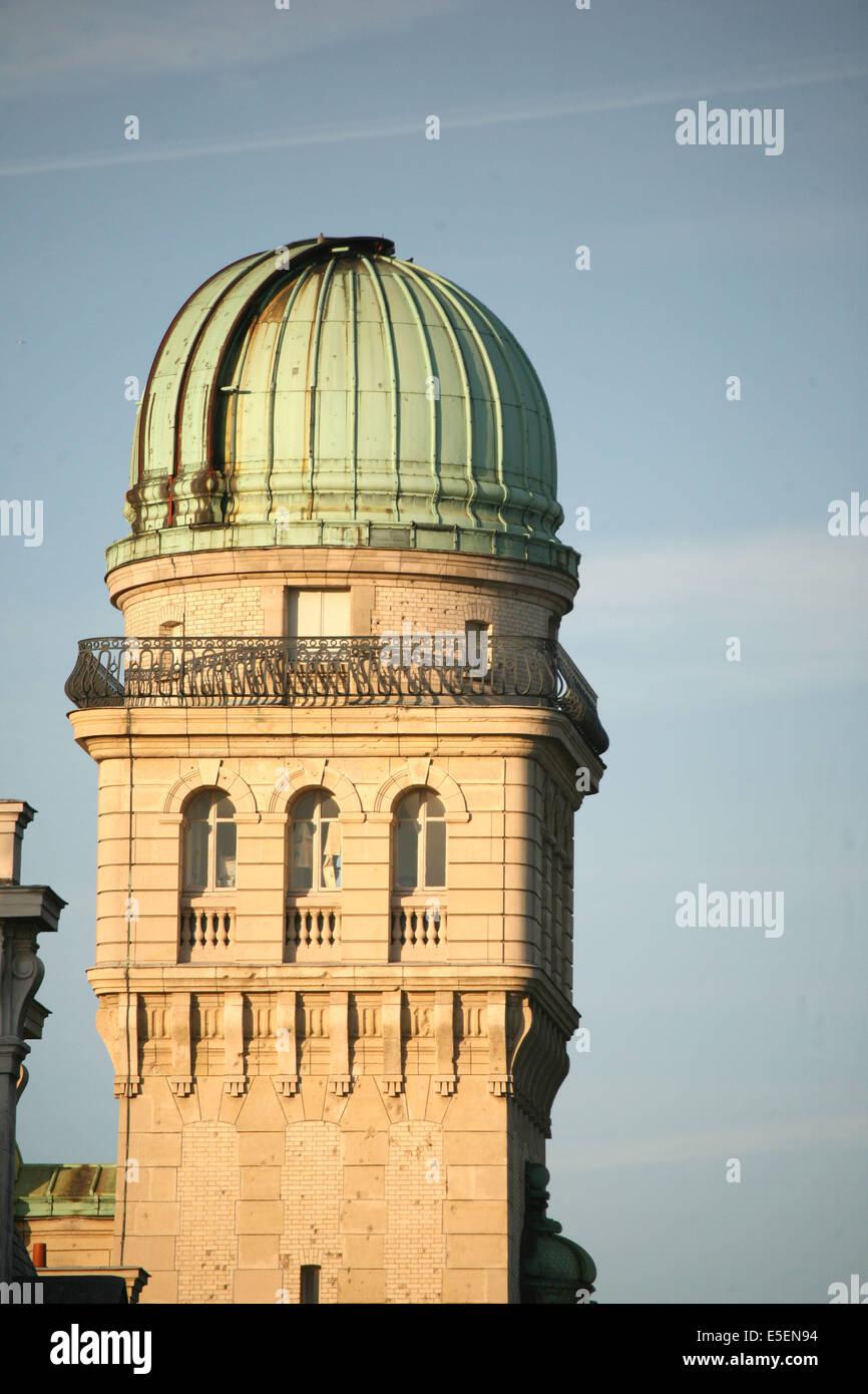 France, paris 6e, universite de la sorbonne, paris IV, tour de l'observatoire, rue saint jacques, - Stock Image