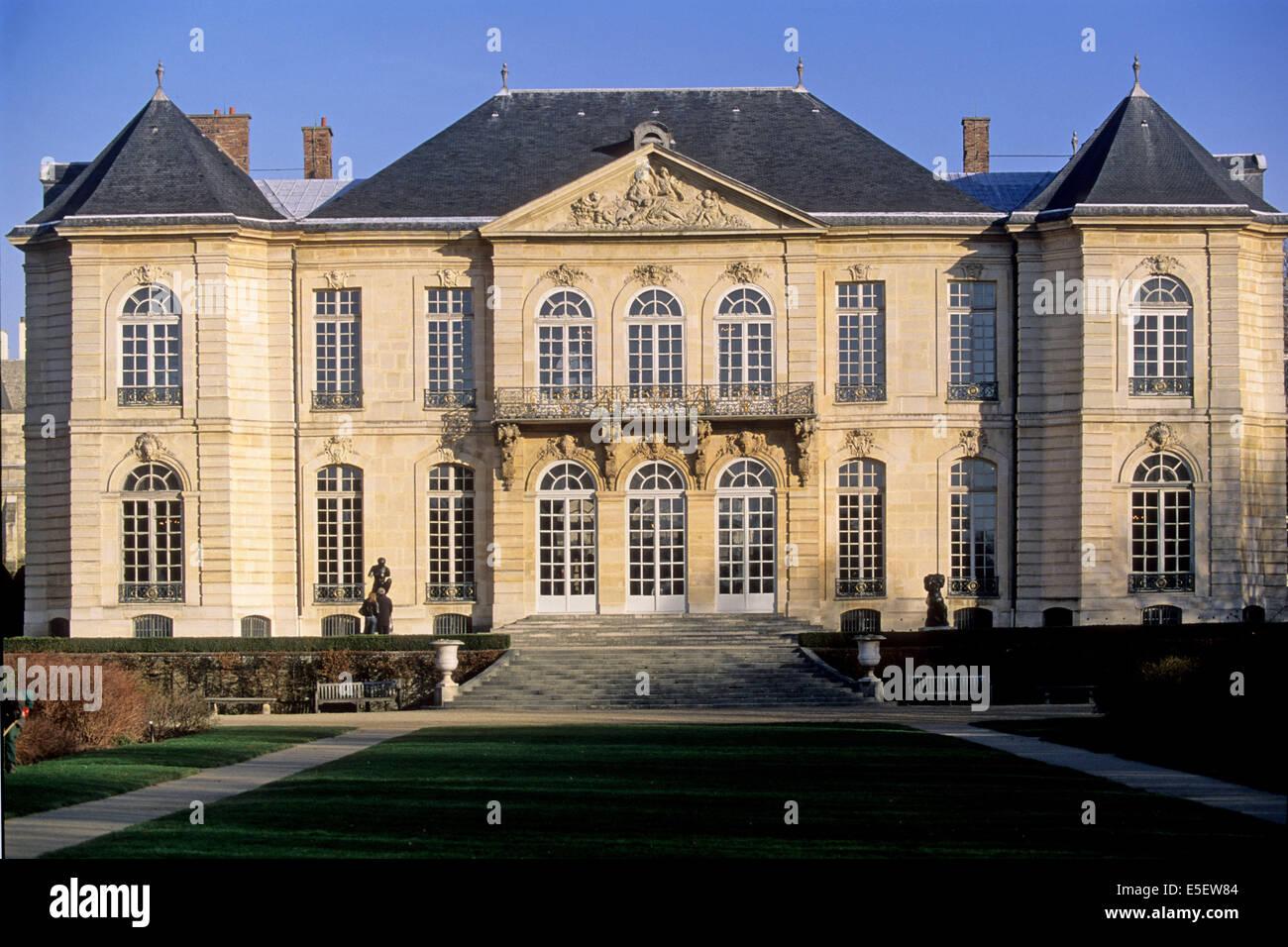 France Paris 7e Faubourg Saint Germain 79 Rue De Varenne Hotel Biron Musee Rodin Particulier Facade Sur Jardin