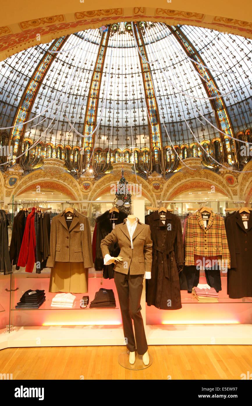 France, paris 9e, galeries lafayette, 40 boulevard haussmann, grand magasin, - Stock Image
