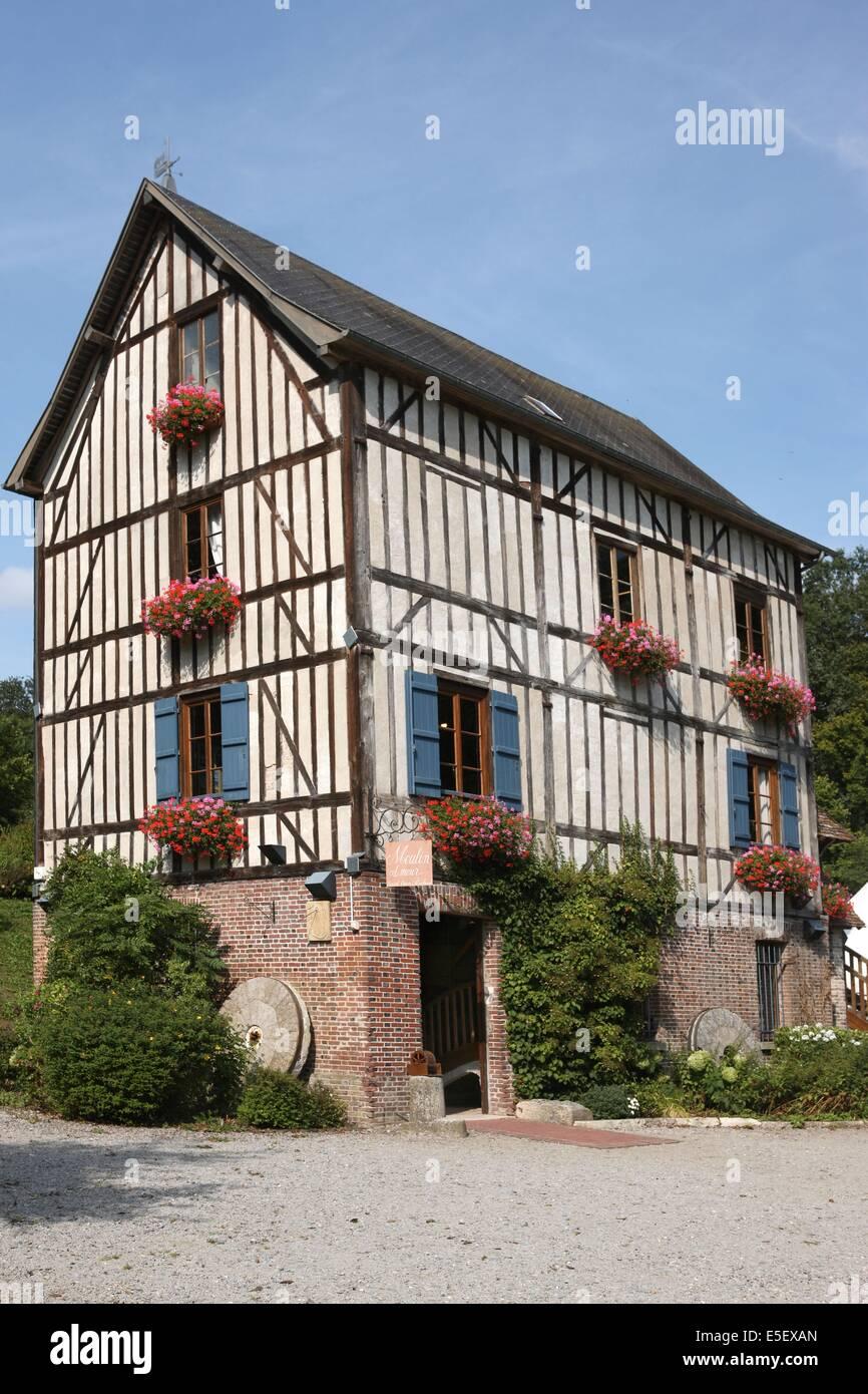 France, Haute Normandie, eure, pays du roumois, saint ouen de pontcheuil, moulin amour, - Stock Image