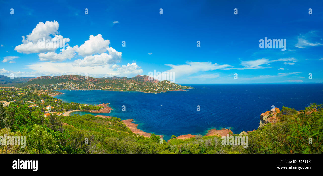 Cote d'Azur in France, panorama - Stock Image