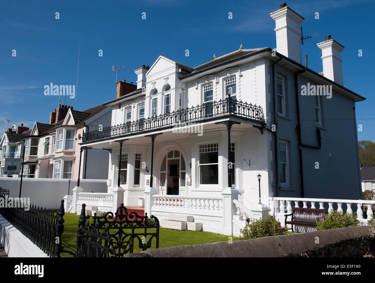 Aberaeron , Cardigan Bay, West Wales, Wales, Uk - Stock Image