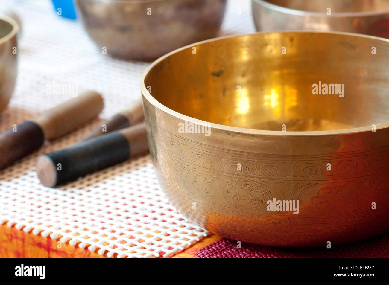 Tibetan Bells Therapy - Stock Image