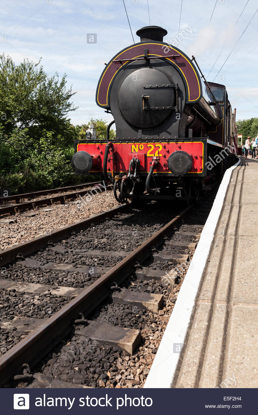 Steam Train and platform - Stock Image