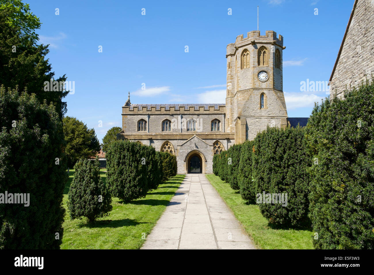 St Michael and All Angels Church in Somerton, Somerset, England, UK - a medieval Grade I listed building - Stock Image