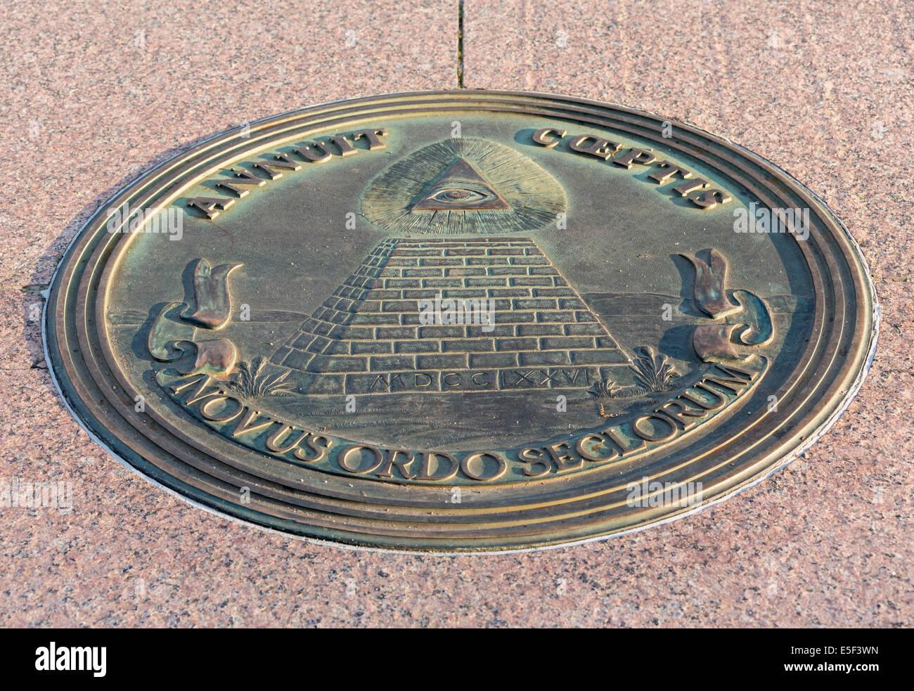 Masonic Symbol Set Into The Sidewalk At Freedom Plaza On
