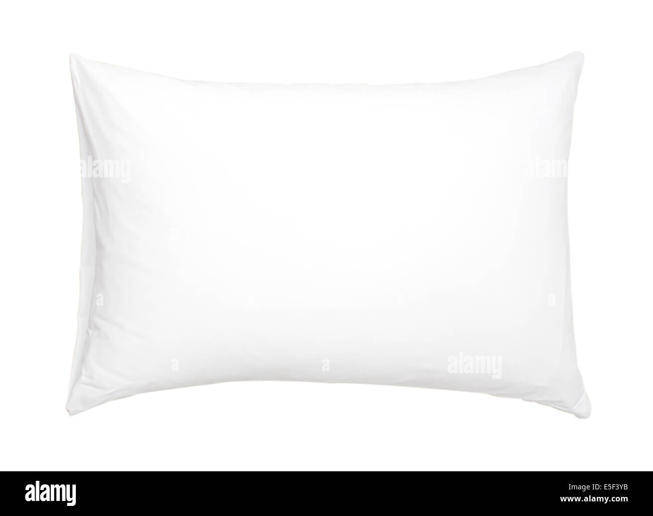 pillow with white pillow case on white background - Stock Image