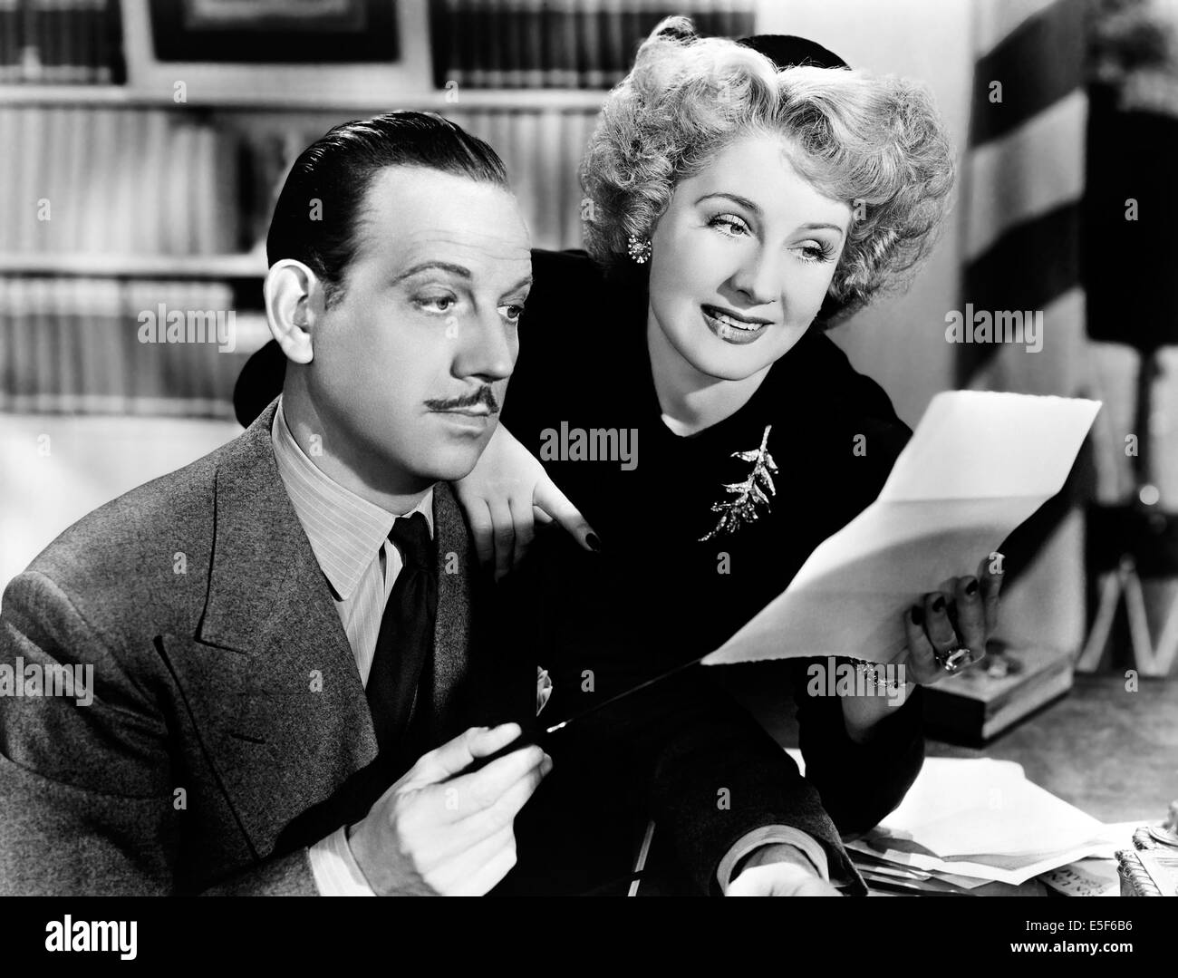 WE WERE DANCING 1942 MGM film with Norma Shearer and Melvyn Douglas - Stock Image