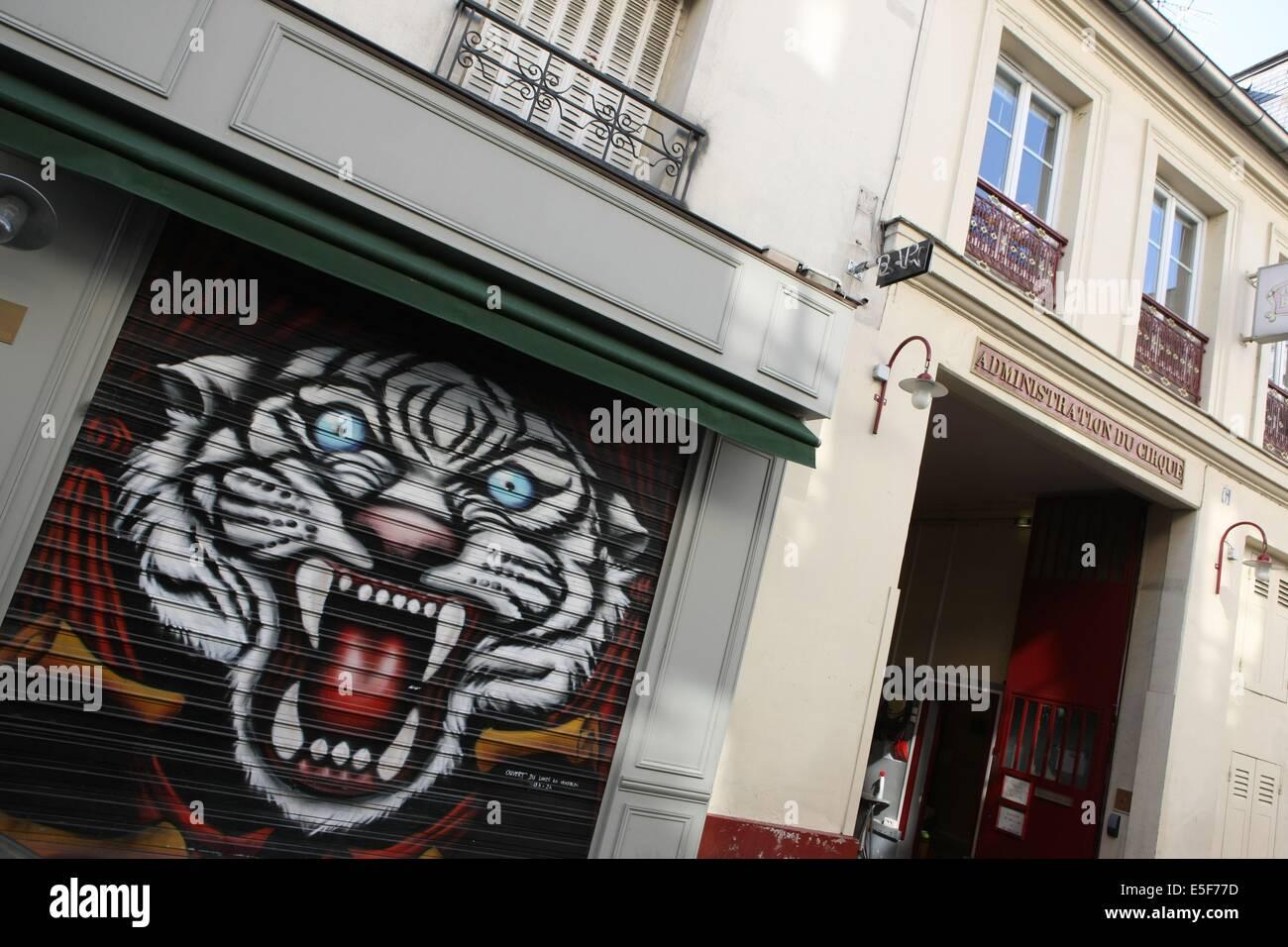 France, ile de france, paris 11e arrondissement, 1 rue de crussol, bar entree des artistes, jouxtant le cirque d'hiver, - Stock Image