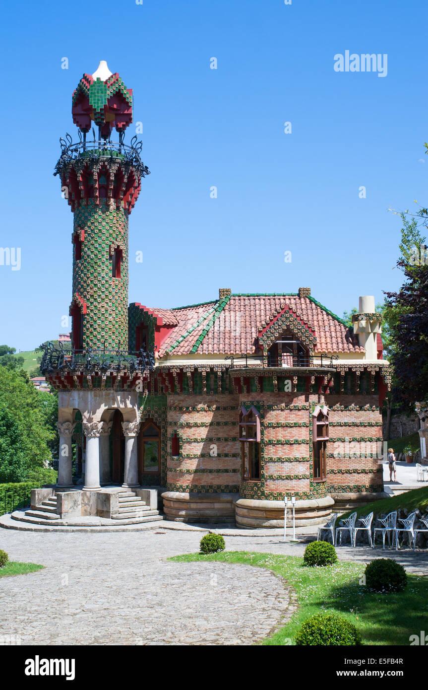 El Capricho de Gaudí, Comillas, Cantabria, Spain - Stock Image