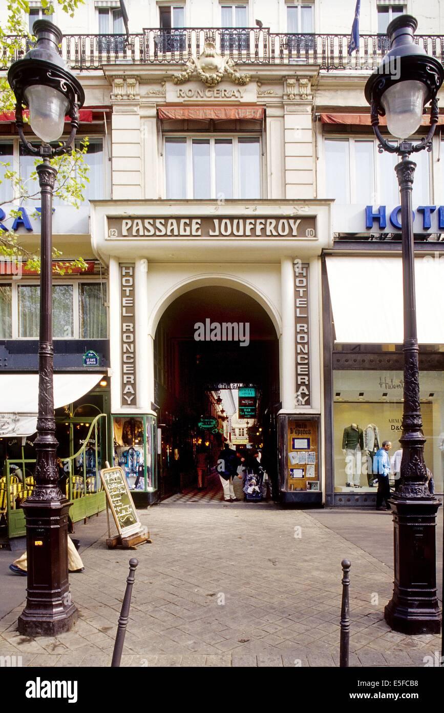Passage Jouffroy, Paris - Stock Image