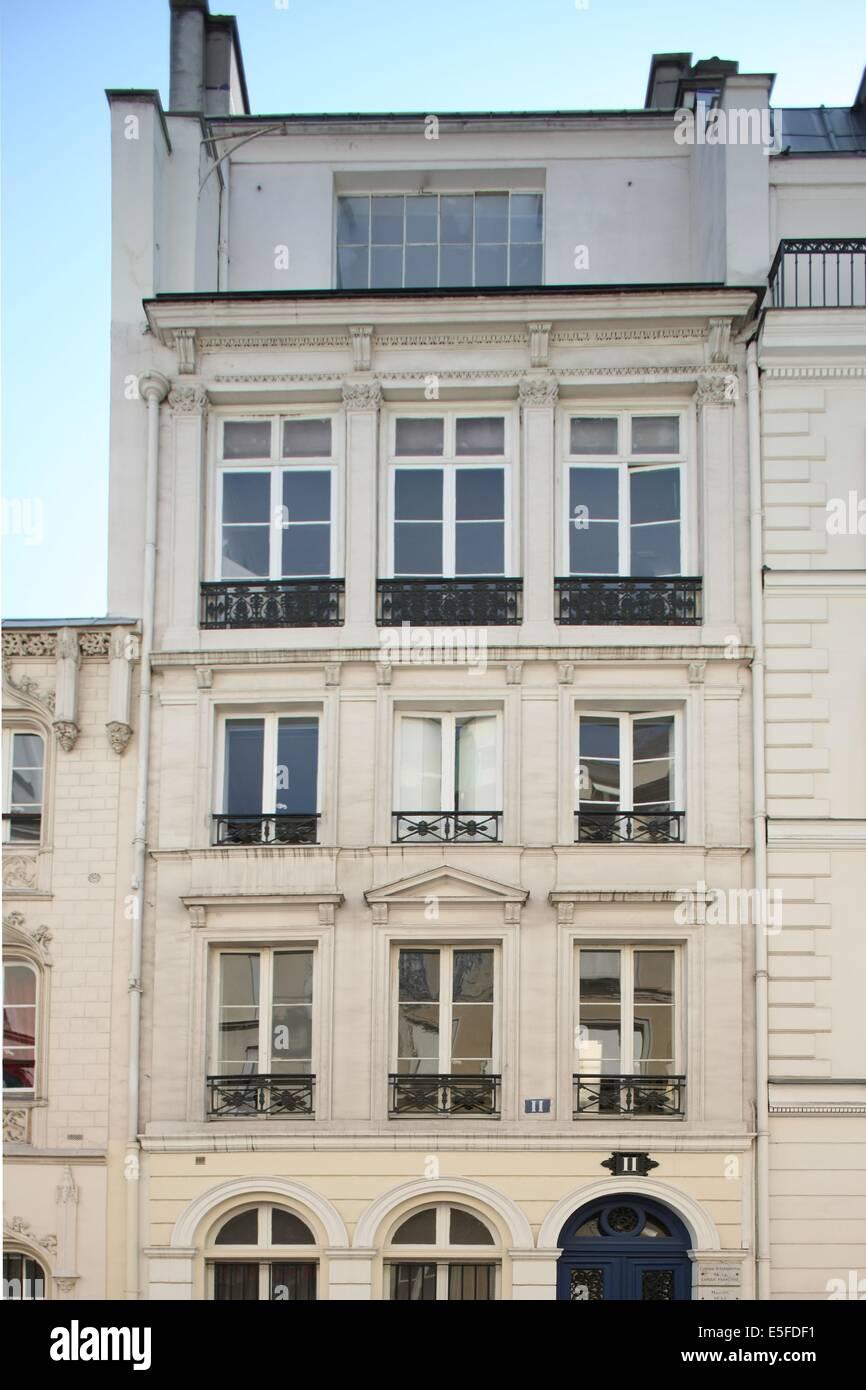 France, ile de france, paris 9e arrondissement, 11 rue de navarin, maison neo renaissance, - Stock Image