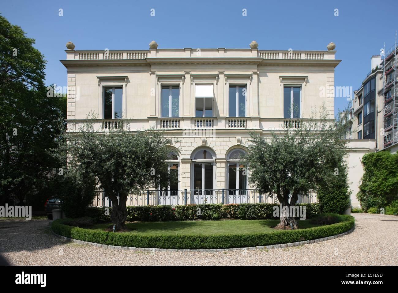 France, ile de france, paris 9e, nouvelle athenes, 2 rue de la tour des dames, hotel particulier,   Date : Ete 2012 - Stock Image