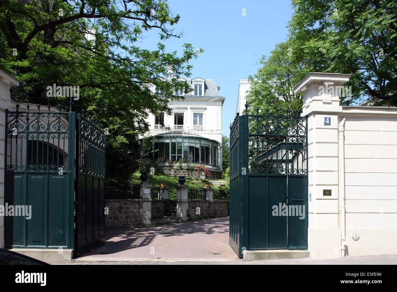 France, ile de france, paris 9e, nouvelle athenes, 4 rue de la tour des dames, hotel particulier, Hotel de Cambaceres, - Stock Image
