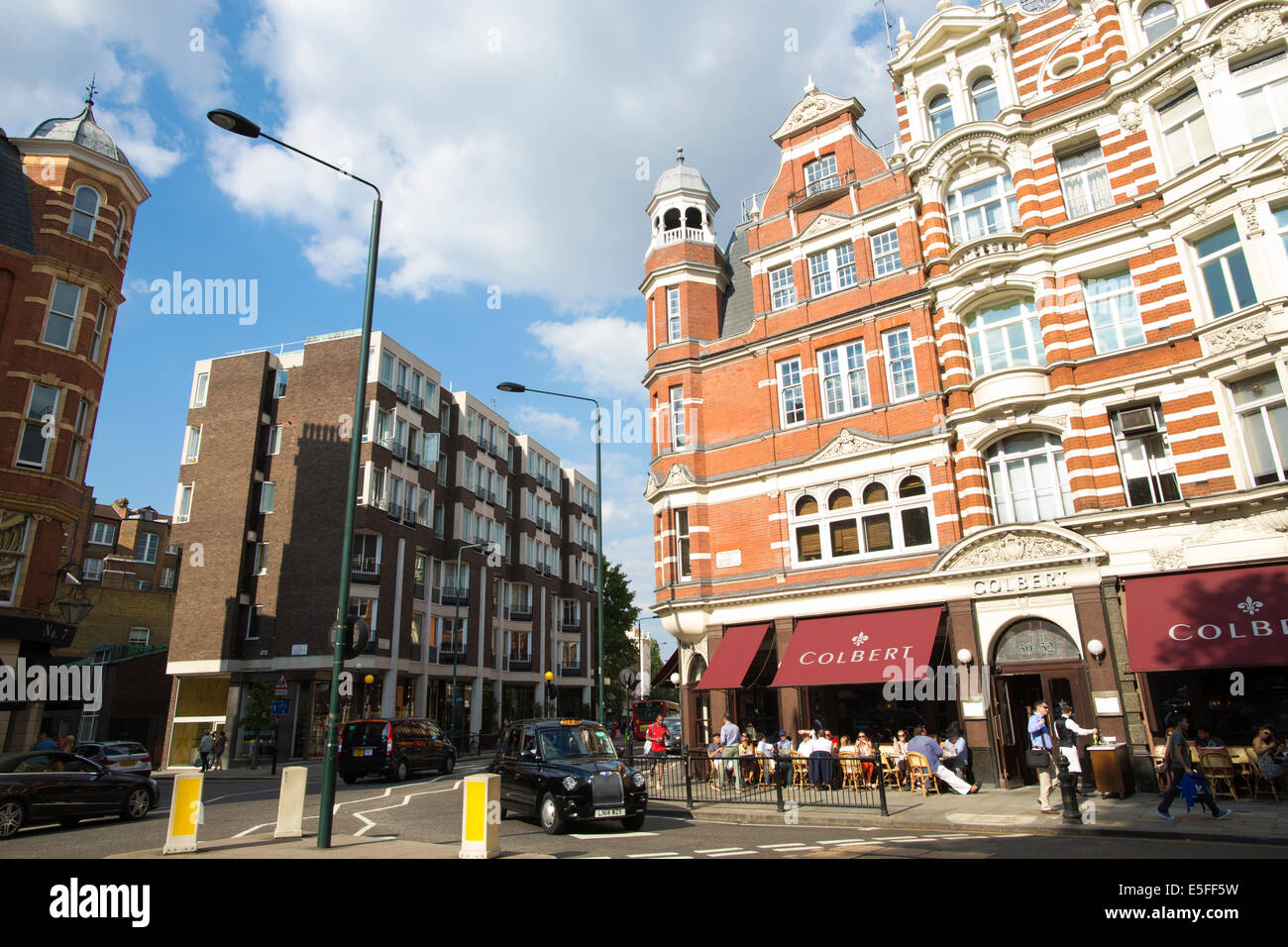 Colbert restaurant sitting on one of London's key sites and the former location of Oriel, Sloane Square, Chelsea, - Stock Image