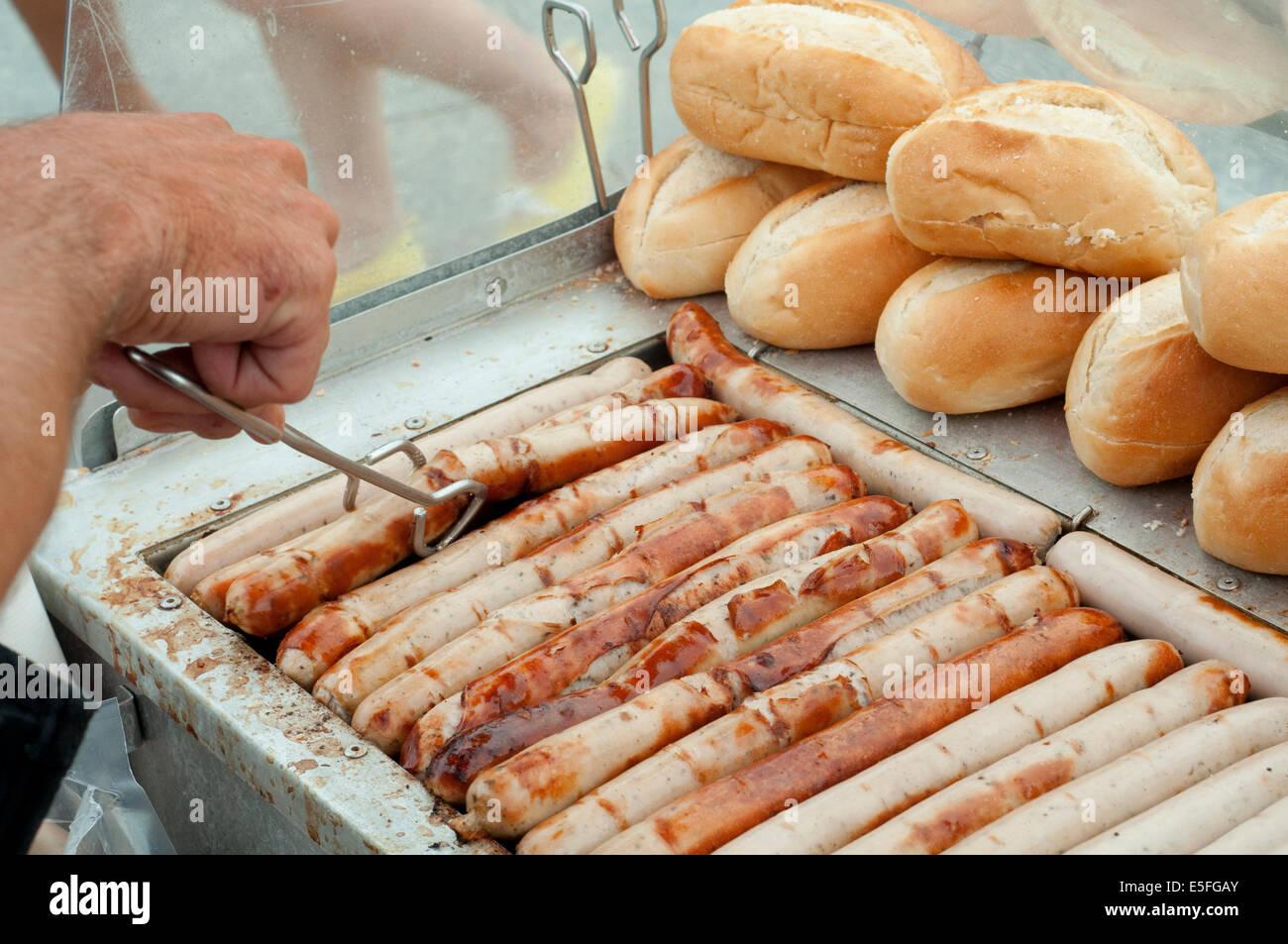 germany berlin wurstel stall hot dog stall stock photo 72256883 alamy. Black Bedroom Furniture Sets. Home Design Ideas