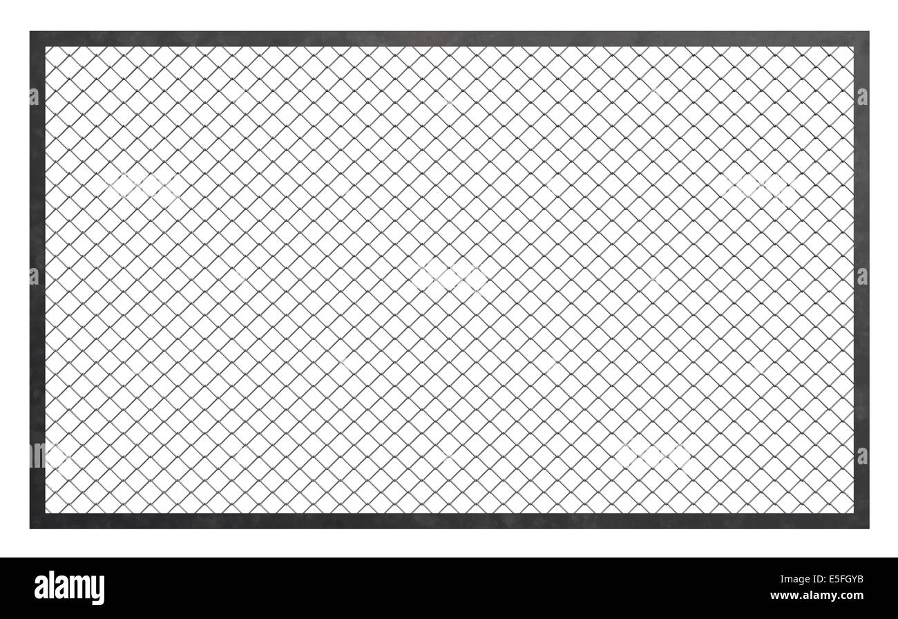 Wire fence barrier on white background, 3d illustration Stock Photo ...