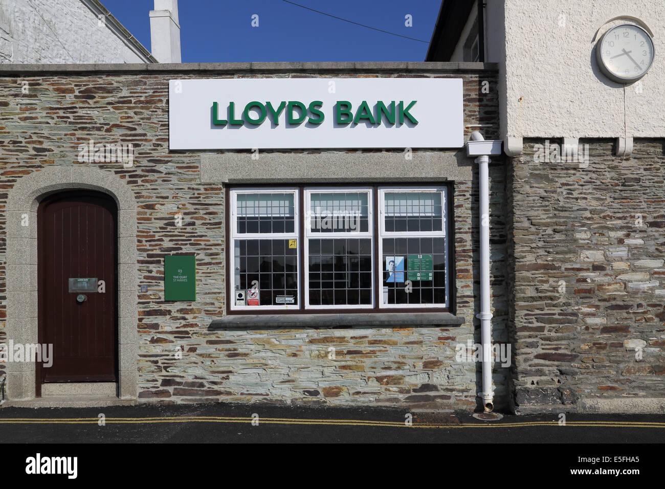 Lloyds bank at St Mawes on the cornish coast - Stock Image