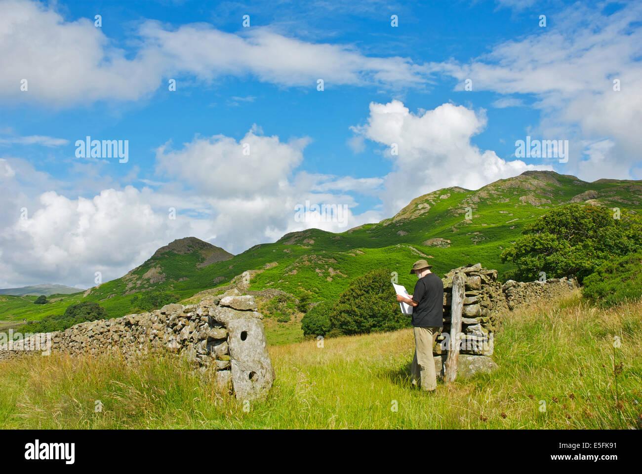 Map Of England Lake District.Ordnance Survey Map And Lake District Stock Photos Ordnance Survey