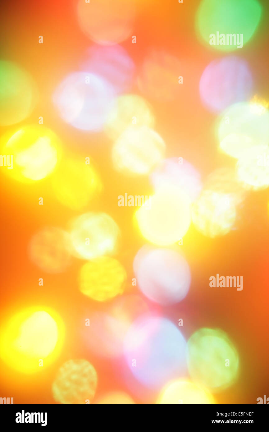 Colorful christmas lights out of focus, may be used as background Stock Photo