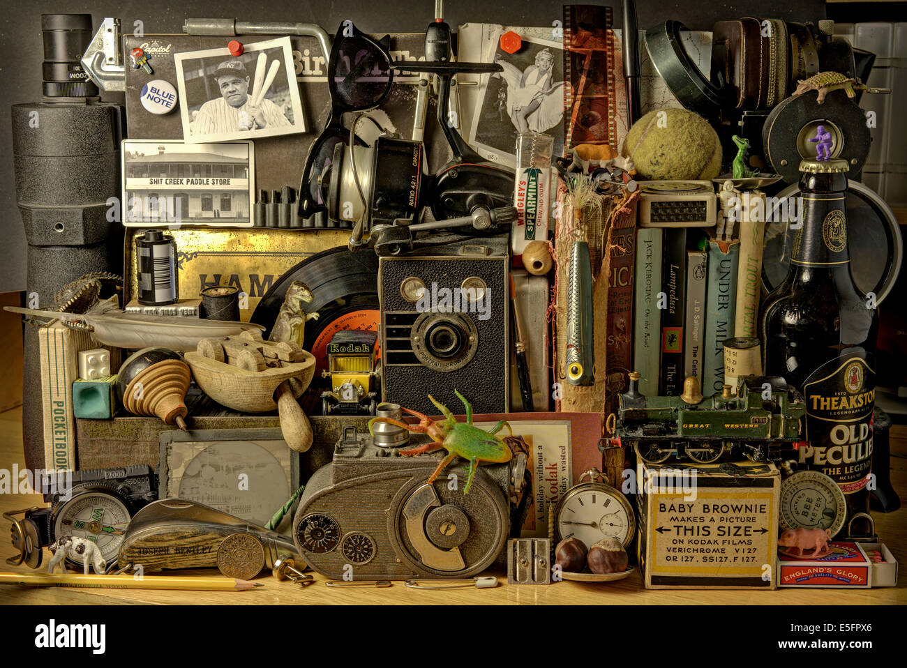 Boys Toys, Old toys and gadgets - Stock Image