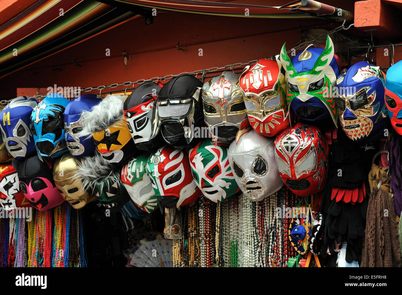 Mexican Wrestlers' masks. - Stock Image