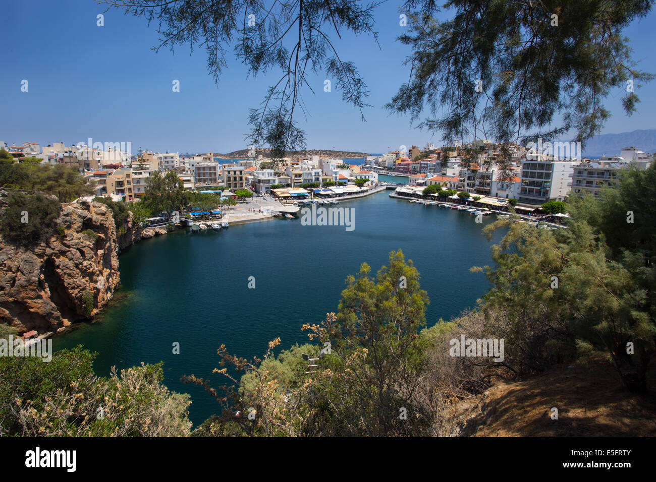 Voulismeni Lake, Agios Nikolaos, Crete - Stock Image