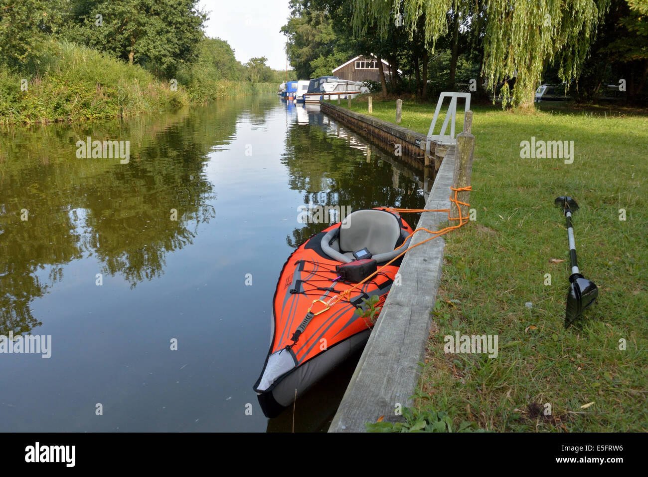 Advanced Elements AdvancedFrame inflatable kayak moored in Catfield ...