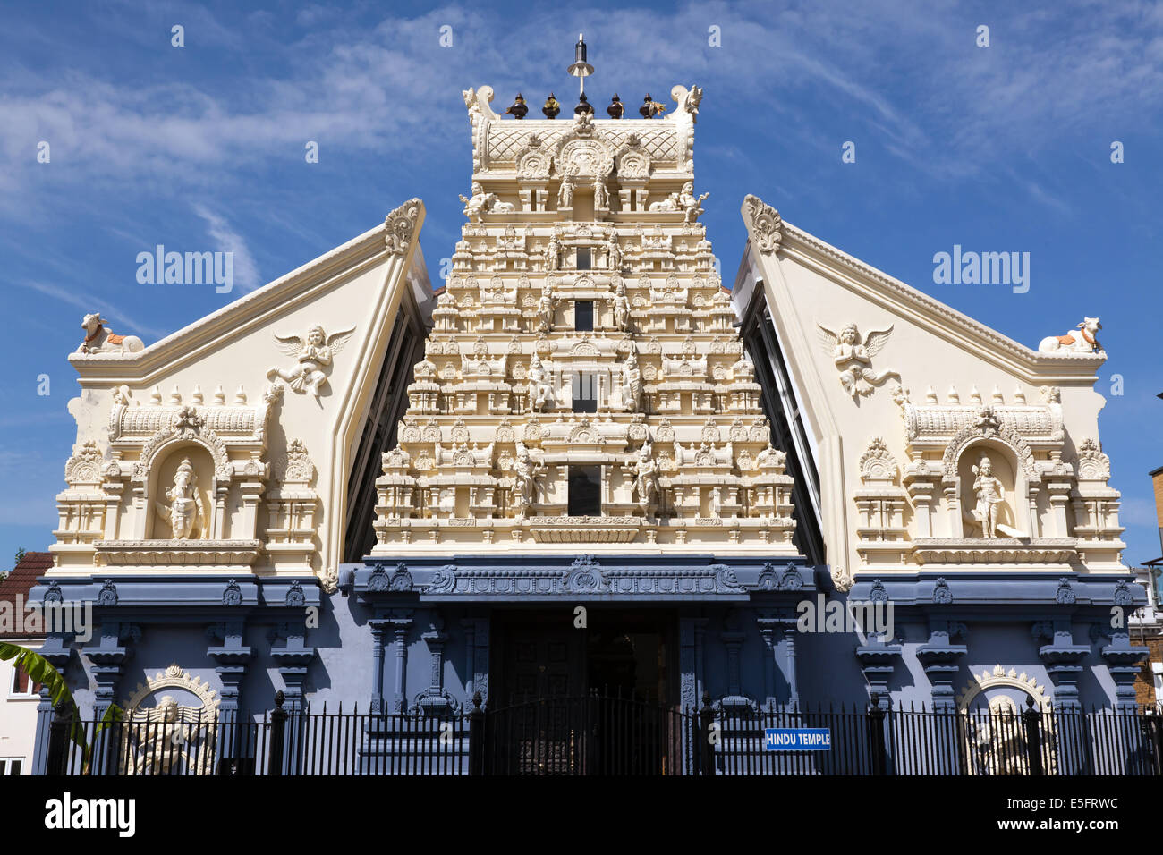 View of the London Shiva Koil, a Hindu Temple in  Lewisham, dedicated to the Lord Shiva. - Stock Image