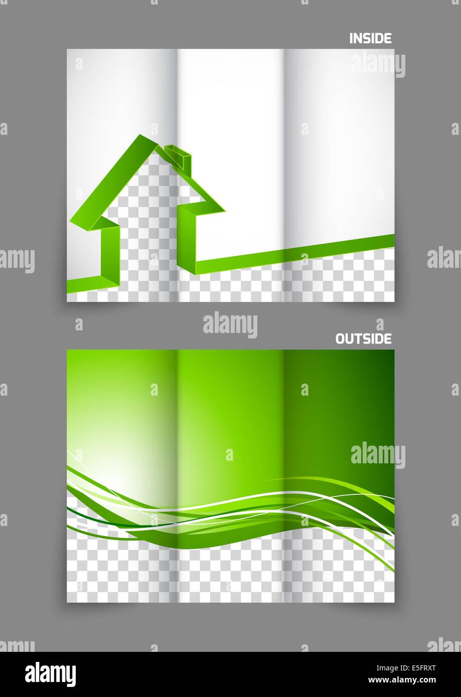 real estate tri fold brochure stock photo 72262816 alamy