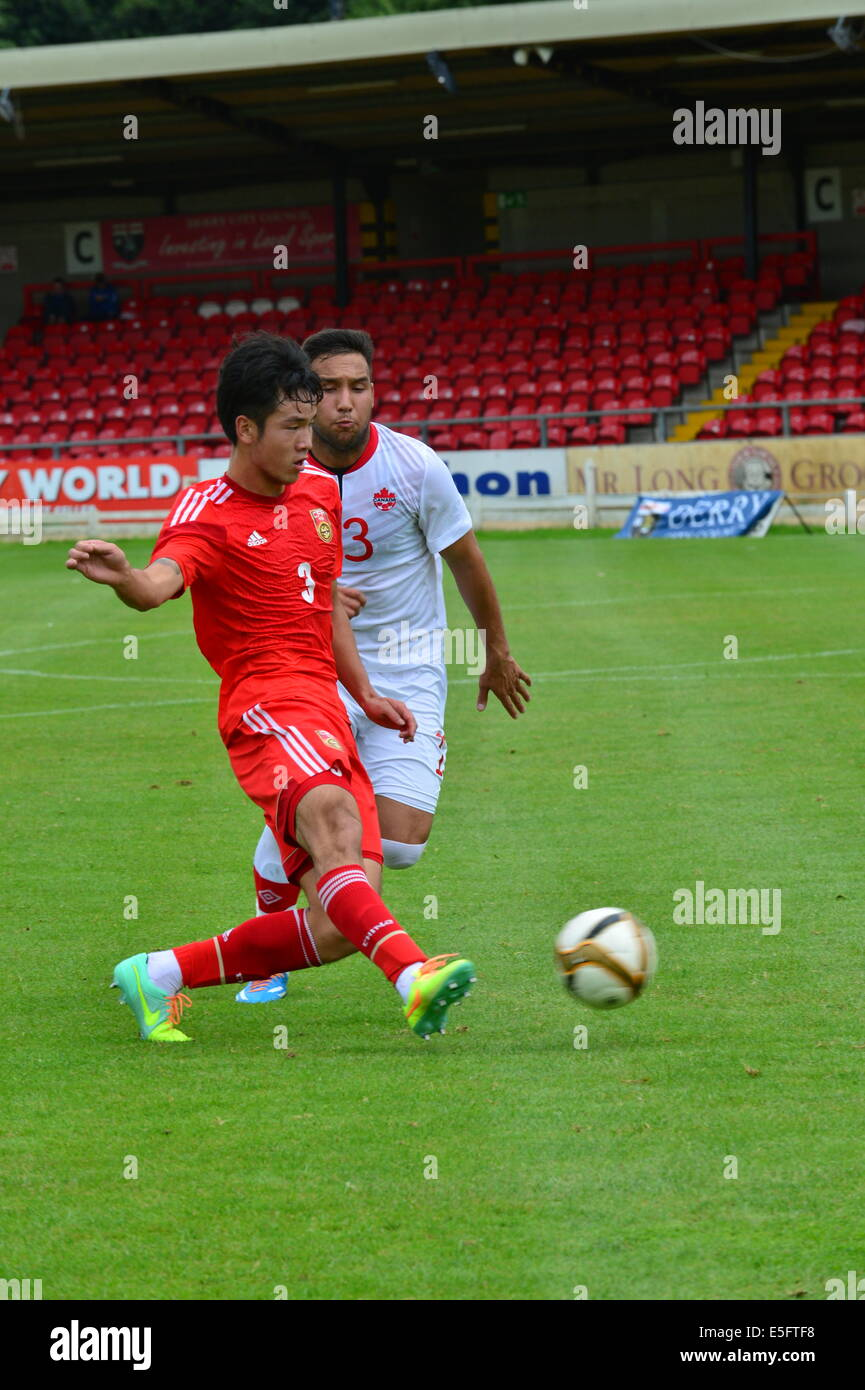 Derry, Londonderry, Northern Ireland. 30th July, 2014. Milk Cup Elite Section, Canada v China. China's Han Xuan - Stock Image