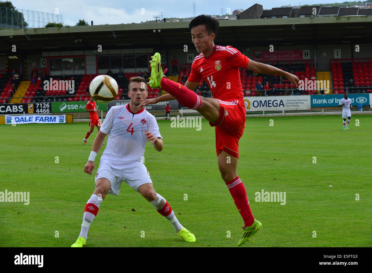 Derry, Londonderry, Northern Ireland. 30th July, 2014. Milk Cup Elite Section, Canada v China. Canada's Alexander - Stock Image