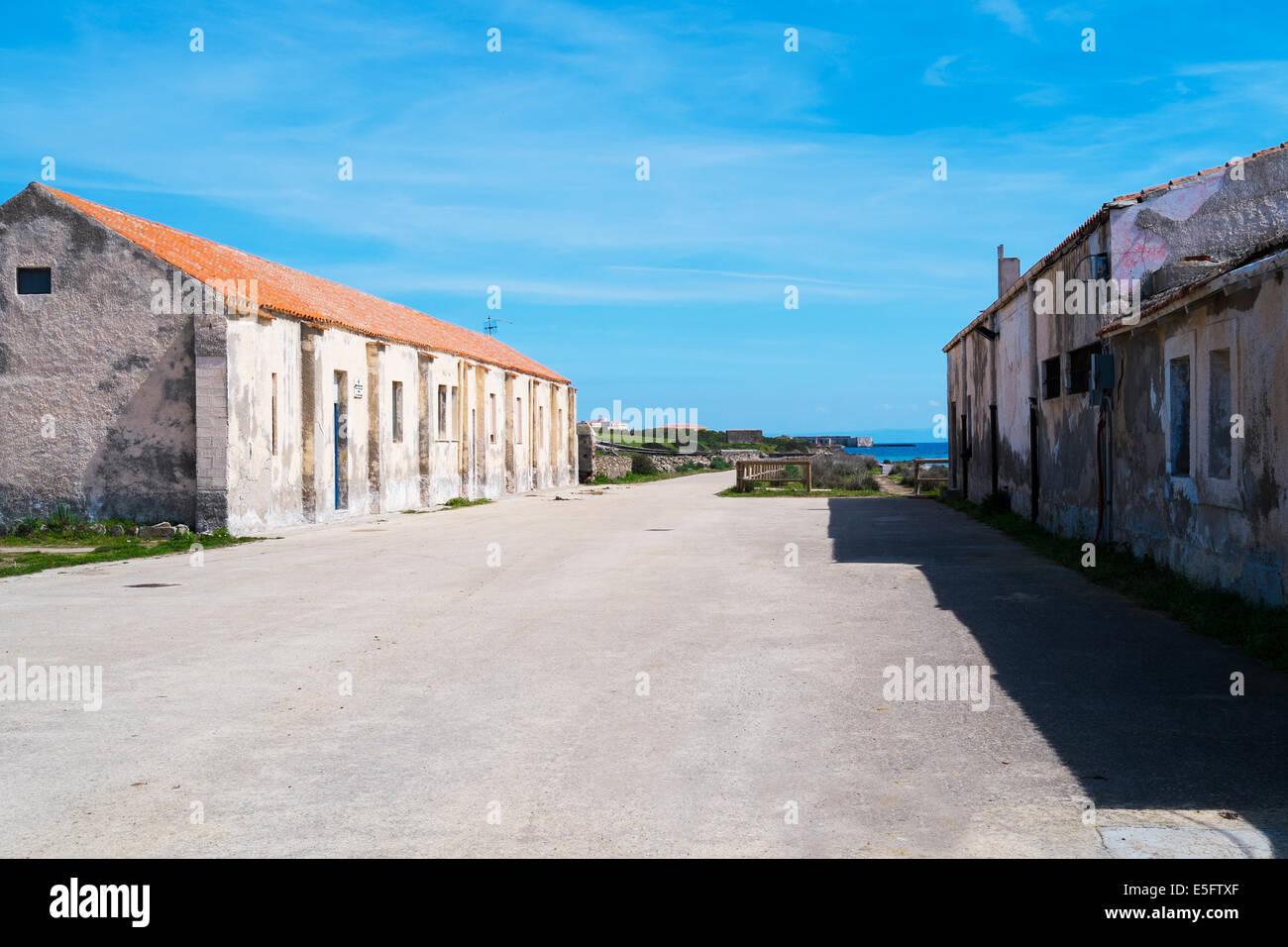 Old prison in Asinara island in Sardinia, Italy Stock Photo
