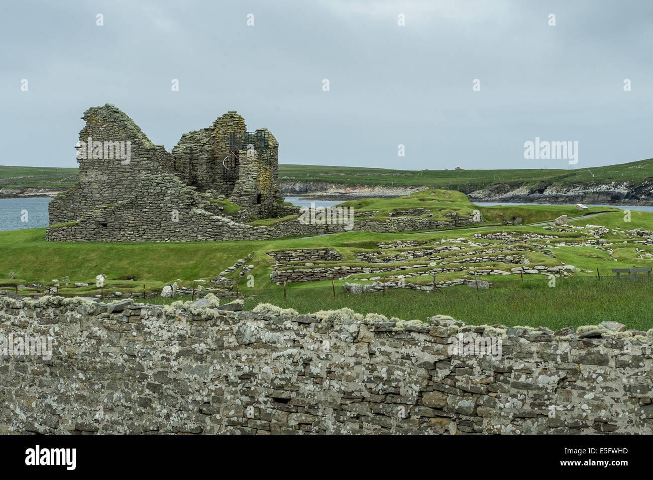 Jarlshof Prehistoric and Norse Settlement - Stock Image