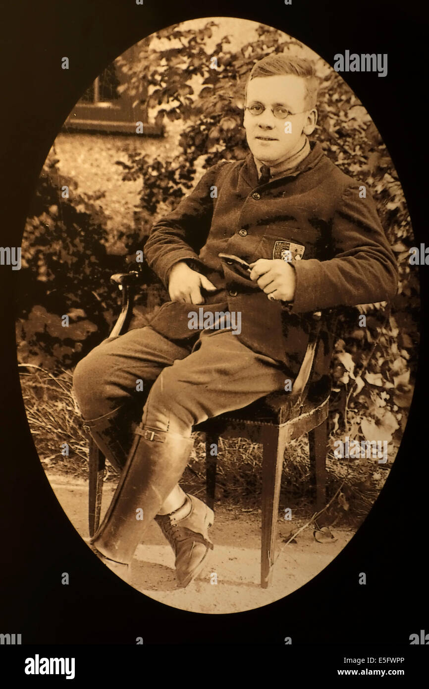 British army chaplain Philip Tubby Clayton, Anglican clergyman and the founder of Toc H / Talbot House during WWI - Stock Image
