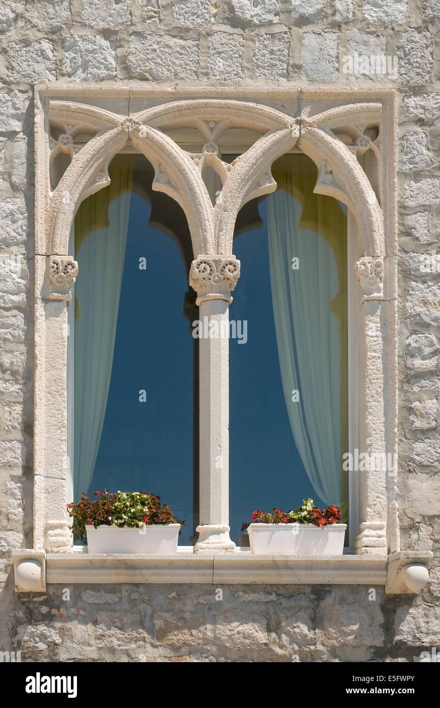 Old dalmatian window - Stock Image
