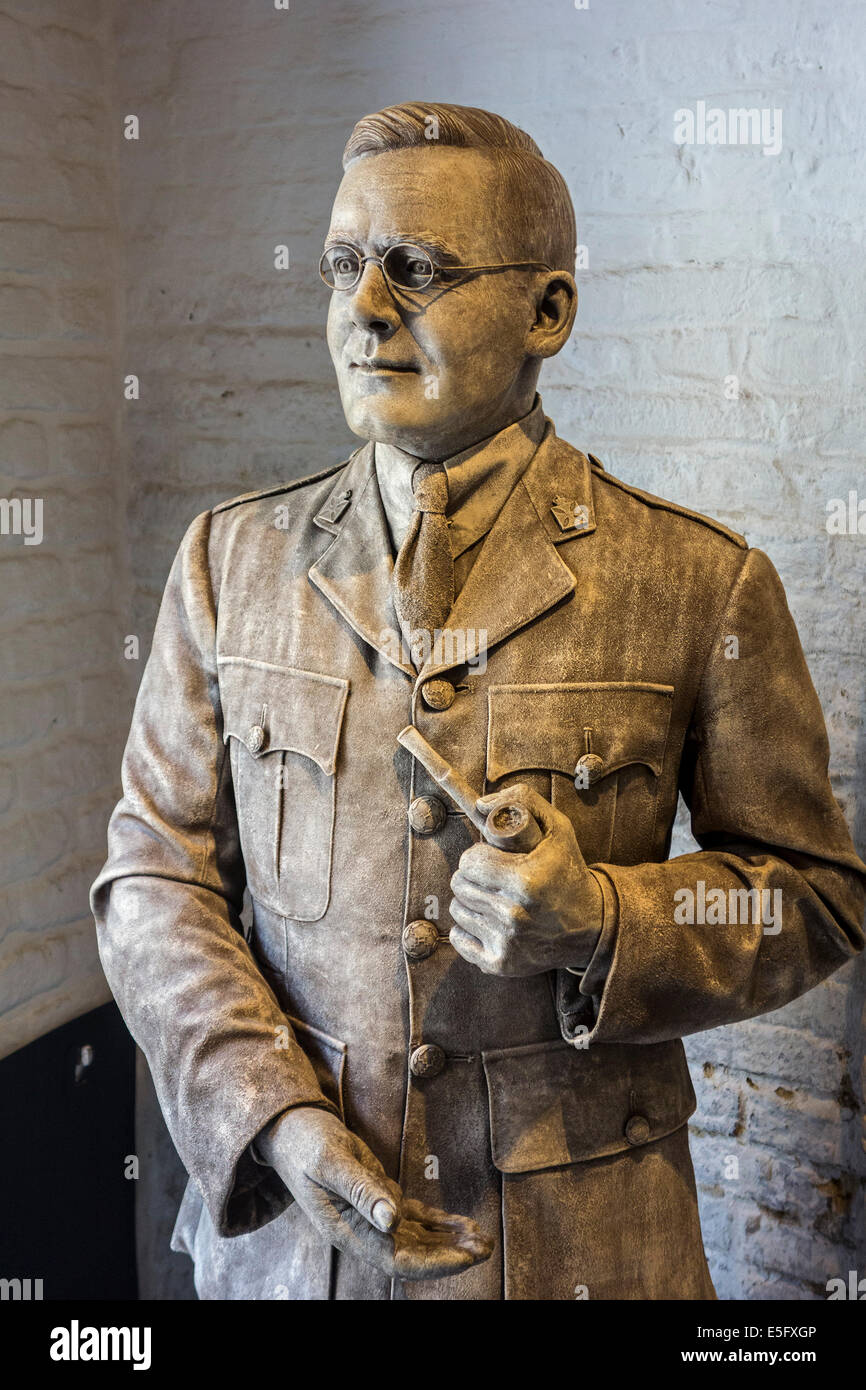 British army chaplain Philip Tubby Clayton, founder of Talbot House, World War One museum in Poperinge, West Flanders, - Stock Image