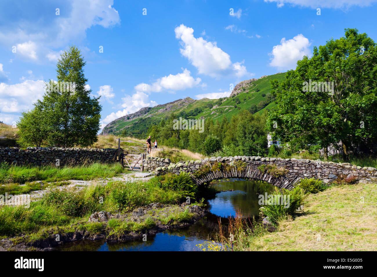 English Lake District. Watendlath Beck, Borrowdale, Lake District National Park, Cumbria, England, UK - Stock Image