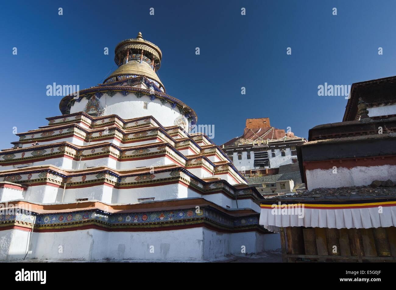 Gyantse Kumbum in Tibet - Stock Image