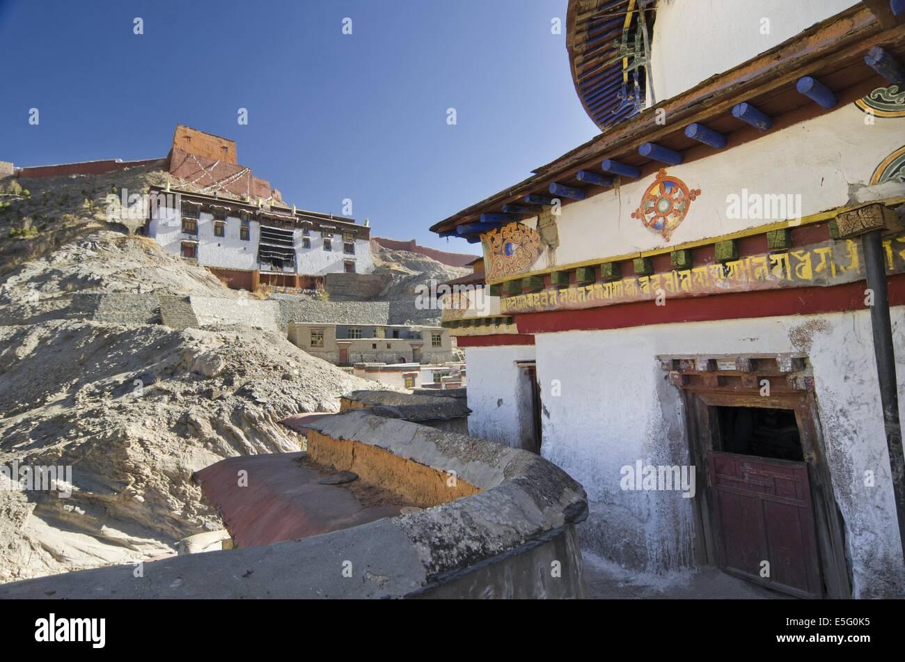 Palcho Monastery in Gyantse, Tibet - Stock Image
