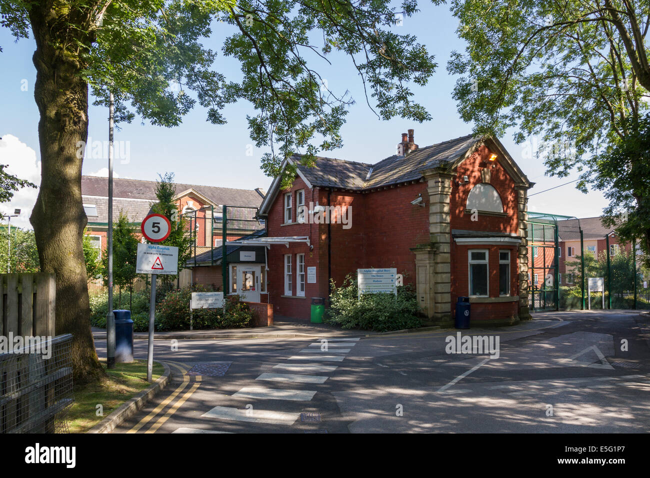 Alpha private mental health care hospital in Bury, Lancashire - Stock Image