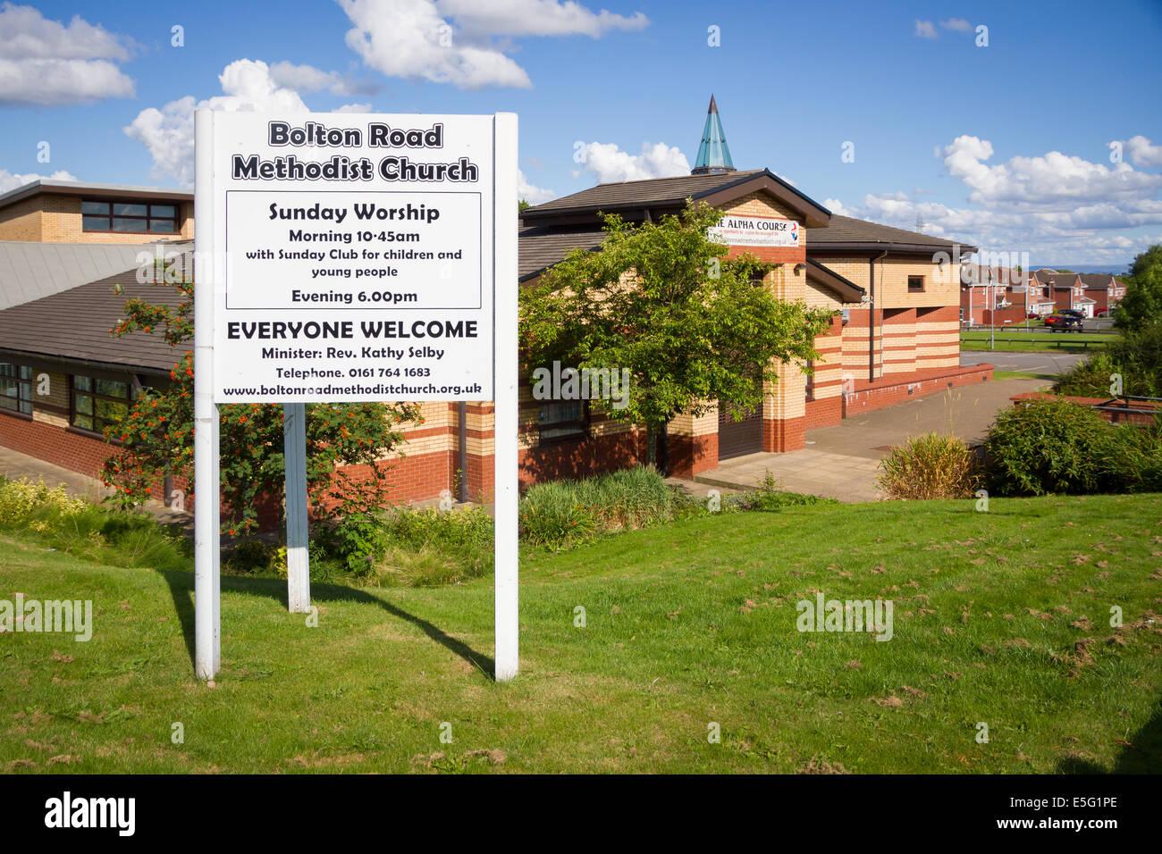 Bolton Road Methodist Church in Bury, Lancashire - Stock Image