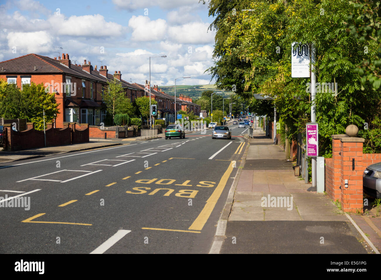 A58 Bolton Road in Bury, Lancashire - Stock Image