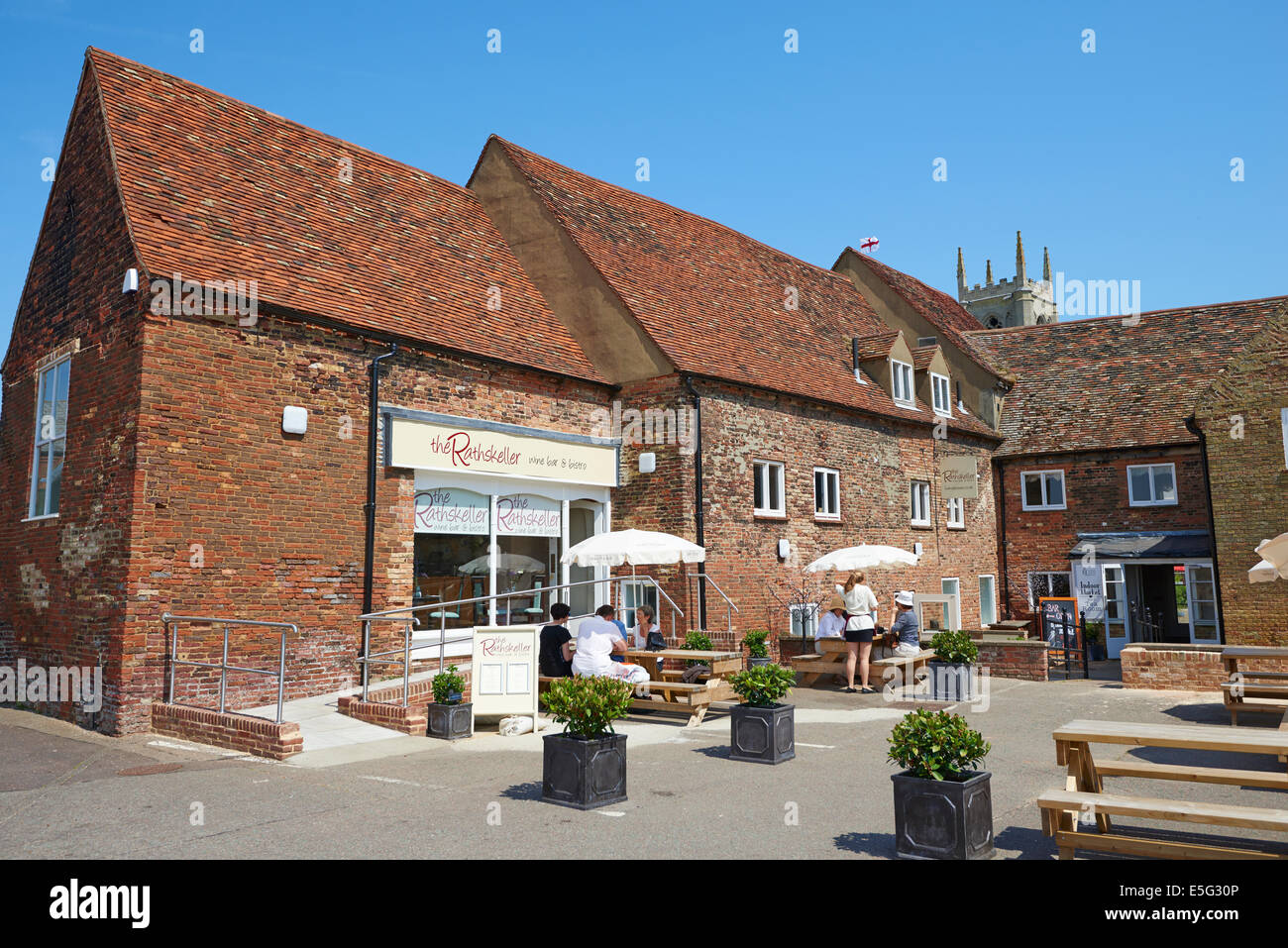 The Rear Of Hanse House South Quay King's Lynn Norfolk UK - Stock Image