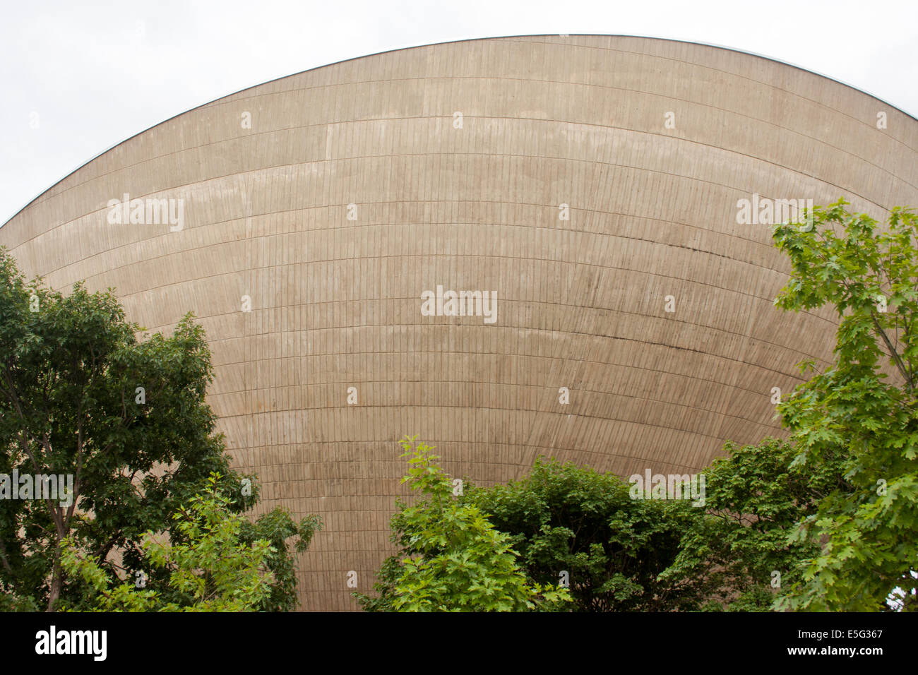 A side view of The Egg at the Empire State Plaza in Albany New York - Stock Image