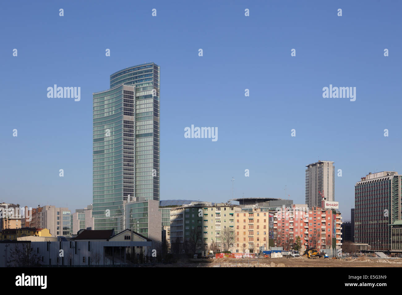 Modern architecture of Lombardy building, Milan, Italy Stock Photo